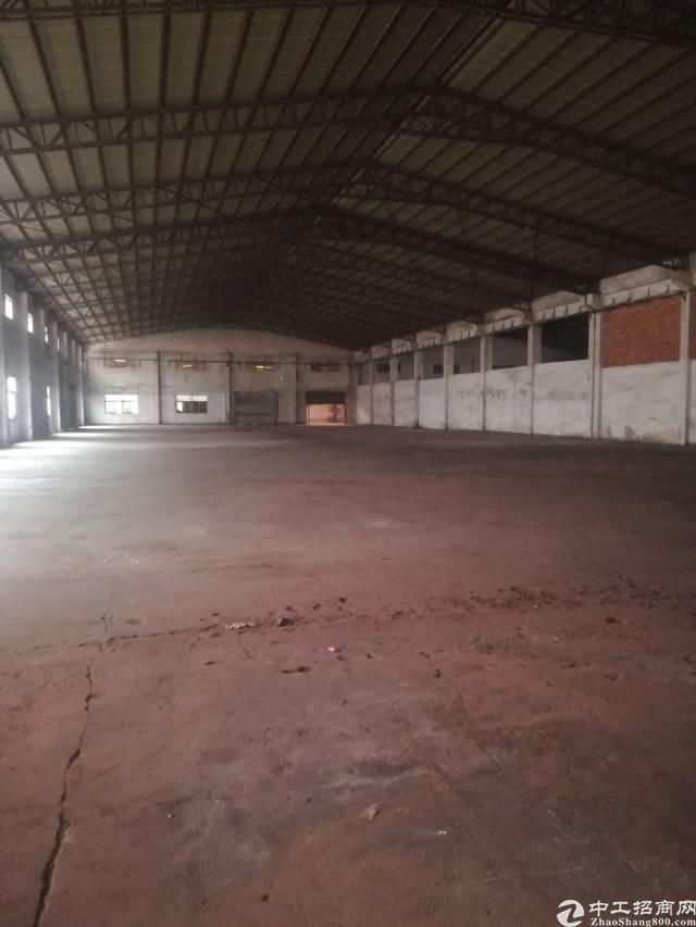 大岭山独院单一层砖墙到顶滴水7米9000平方厂房出租