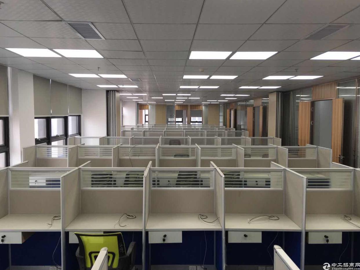 龙华地铁口1500平甲级精装带家私写字楼出租