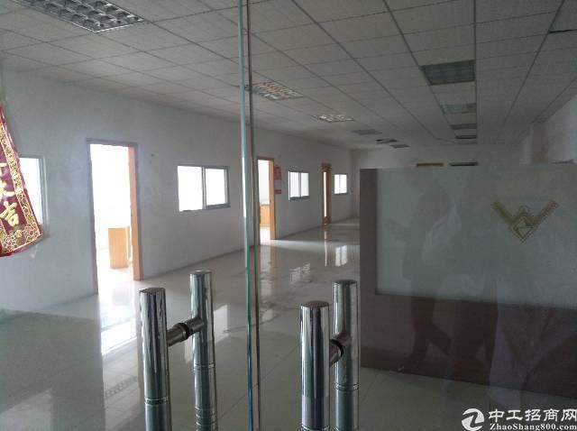 黄江北岸新出楼上带装修厂房800平米