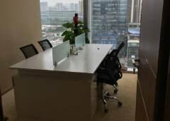 宝安中心区宝体地铁口附近楼上158平方带装修甲级写字楼出租
