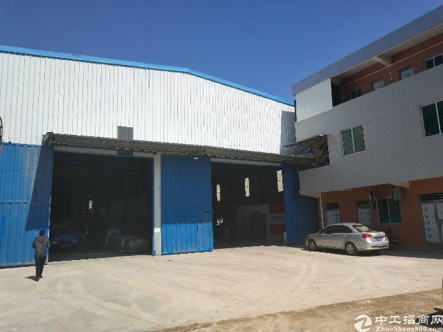 虎门镇原房东独院单一层厂房1350平方出租,带行车,高9米