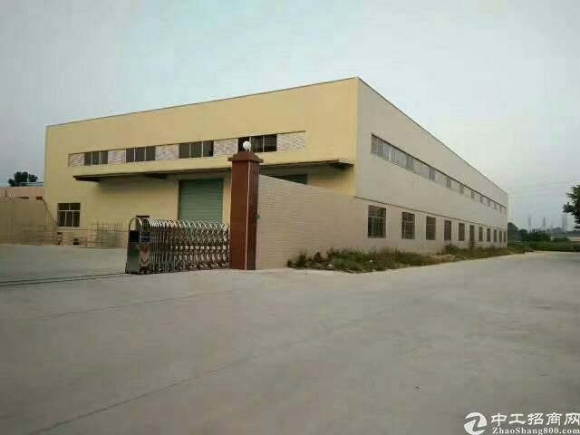 企石新出全新独院钢构厂房6000平方(高度9米带牛角)