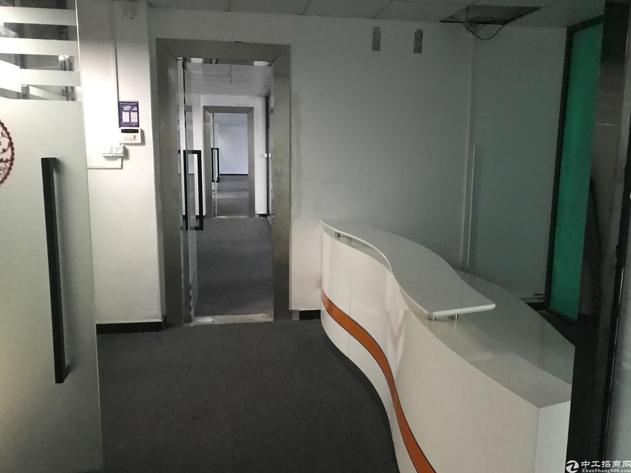 龙华大浪福龙路出口700平精装修办公楼出租,拎包进驻即可办公