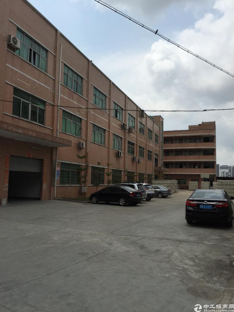 公明蒋石主干道旁边原房东5250平方米独院厂房招租