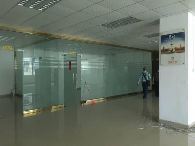 梅观高速出口大富工业区原房东楼上整层1350㎡带装修厂房招租