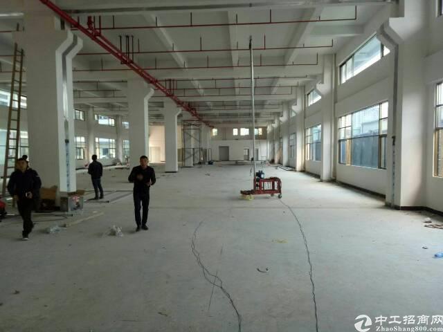企石原房东标准厂房分租一楼2200平方,含装修