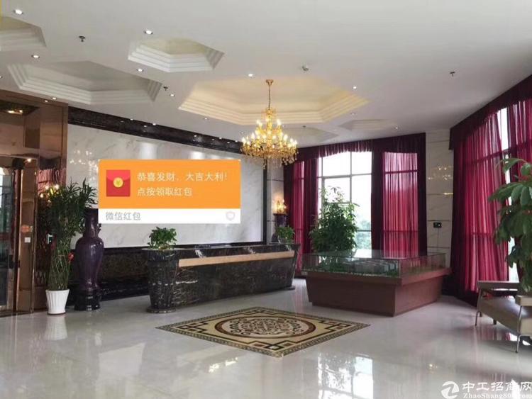 松岗中心企业总部红本写字楼出租1600平米精装修可带家具出租