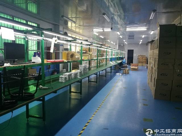 西乡黄田高薪产业园楼上1680平米出租