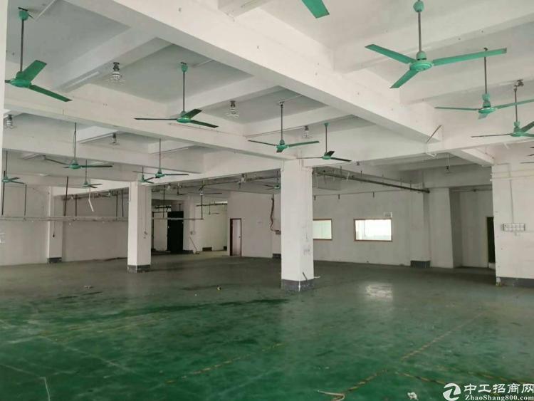 出租)黄江田心厂房二楼2000平方 形象好