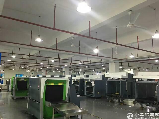 公明田寮南光高速出口新出楼上2000平方带装修厂房出租