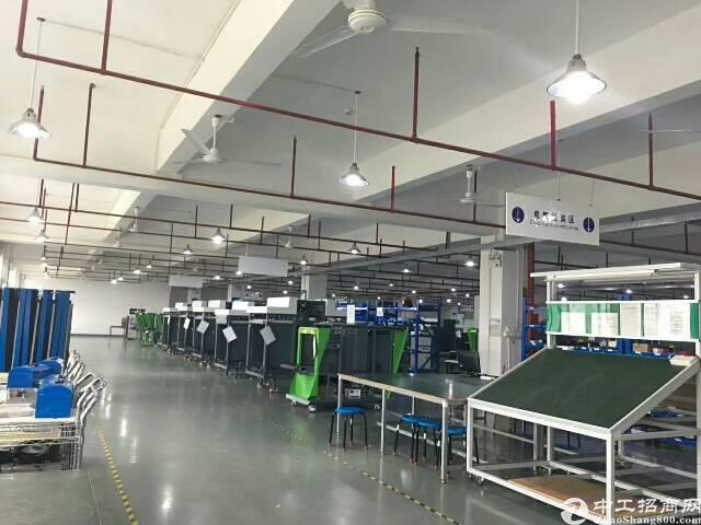 公明田寮南光高速出口新出楼上2000平方带装修厂房出租-图2