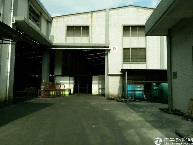 大岭山新出重型钢构厂房3700平米,有现成行车!