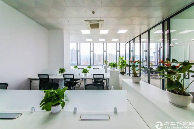 龙胜地铁口走路5分钟开发商直租精装修办公室双面采光300㎡