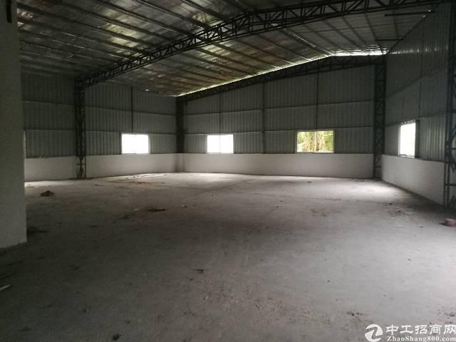 石碣全新原房东单一层钢构厂房700㎡,租16元,没有公摊。