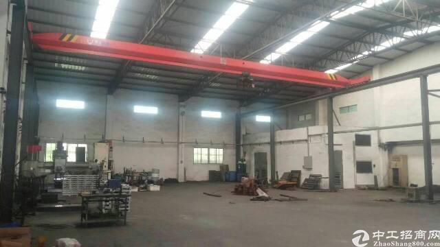 高埗镇工业园区内独栋带行车钢构厂房出租
