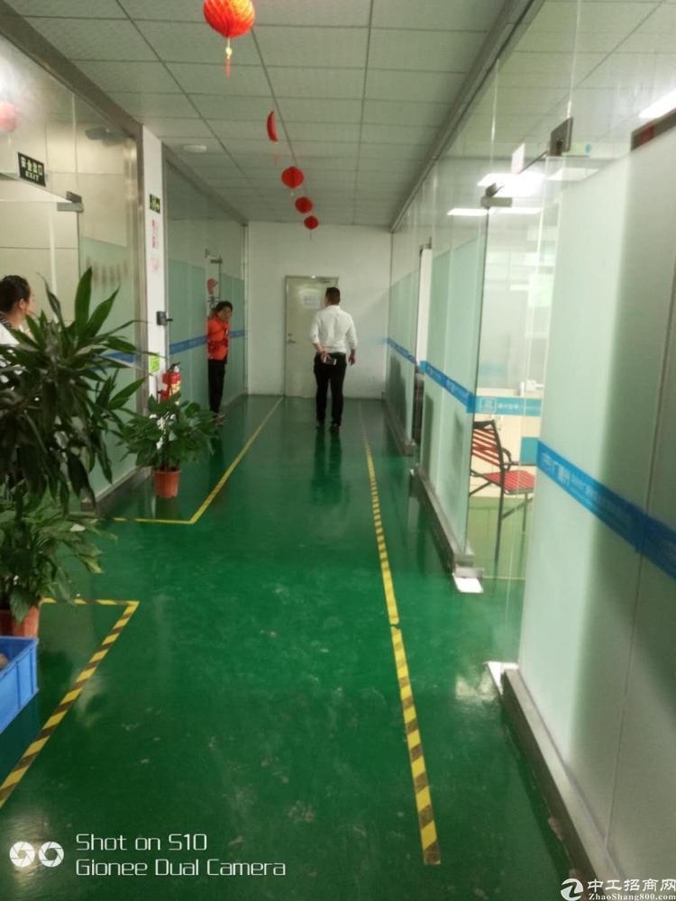 坪山石井工业区精装修厂房560平米二楼19元出租
