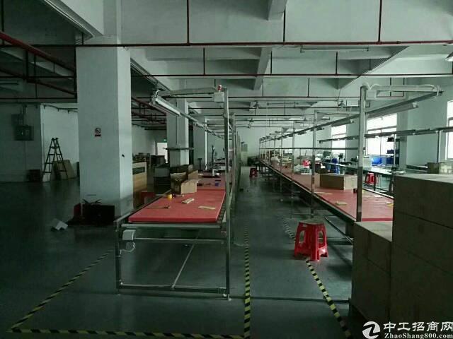 梅观高速出口大型园区内二楼935平标准厂房出租。