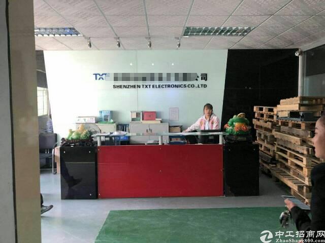 福永塘尾大型工业区1000平米带装修厂房急租