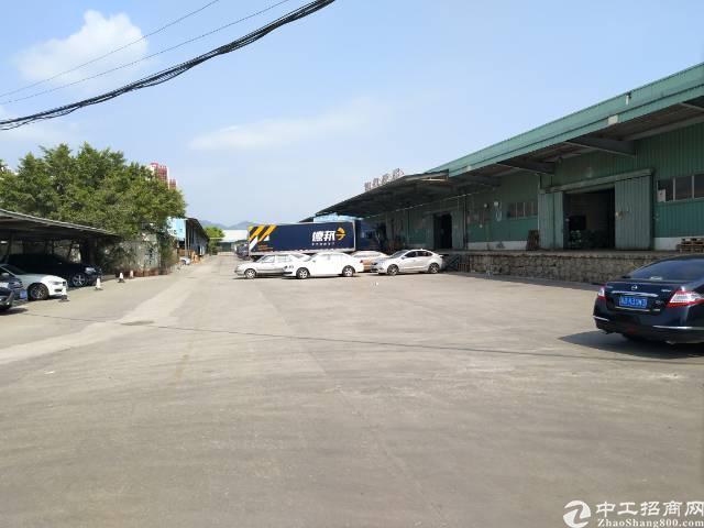 南山西丽茶光路边上新出1200平一楼带卸货平台仓库出租