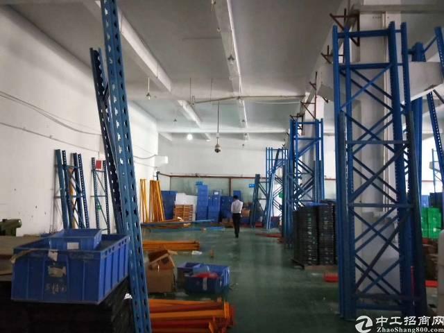 沙井步涌新出一楼标准厂房1250平米层高六米带牛腿,用电