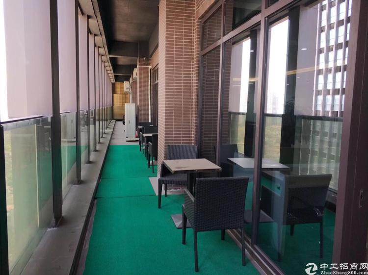 龙华地铁口边甲级写字楼300平带装修出租