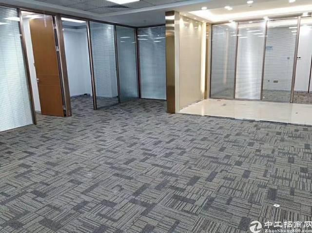 出租光明新区甲子塘高新园精装修写字楼大小分割