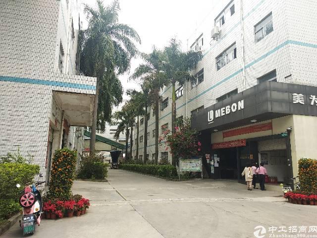 坑梓工业区内独栋厂房7600平带电梯送宿舍可分租空地大