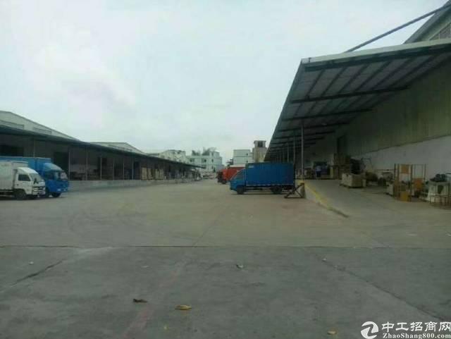 横岗水官高速出口8000平仓库出租,带卸货平台