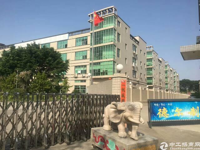 松岗燕川大型工业园楼上1800平方厂房出租有装修水电齐全