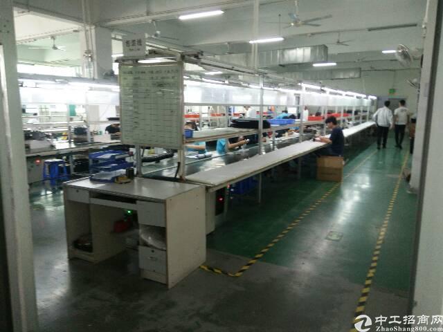 福永镇和平卓科工业区三楼1400平带精装修厂房招租
