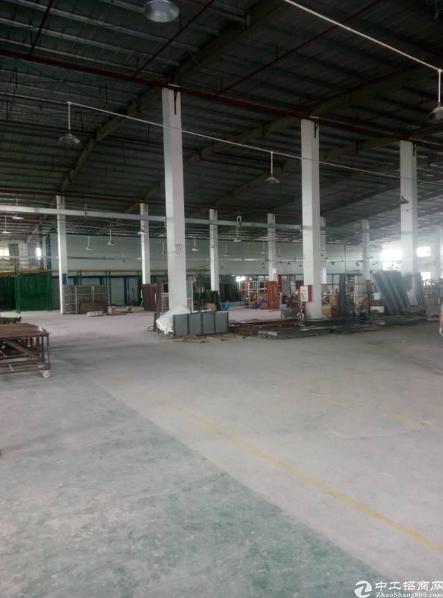 龙岗坪地高速路口附近原房东钢构厂房6000平米出租,可包租