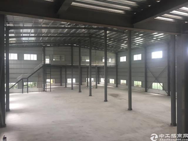 黄江镇靠近深圳公明新出独门独院钢结构厂房1500平方出租