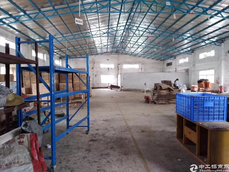 惠州市惠城区水口镇新出单一层1200平方标准厂房出租。
