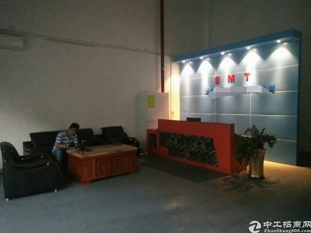 福永桥头地铁口大型工业区新出一楼800平精装修厂房出租