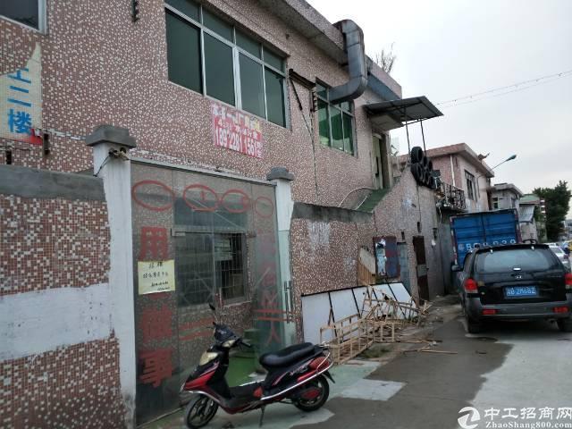 深圳沙井新桥107国道边上新出一楼加二楼700平方厂房出租