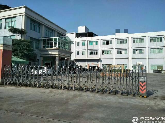企石镇9.5成新独院标准厂房1-3层8000平方,有办公楼