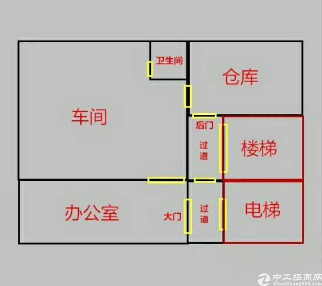 坂田吉华路剑业工业园新出精装修350平