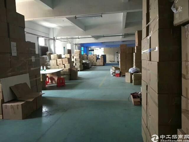 横岗地铁口新出精装修一楼厂房800平水电齐全,带地坪漆