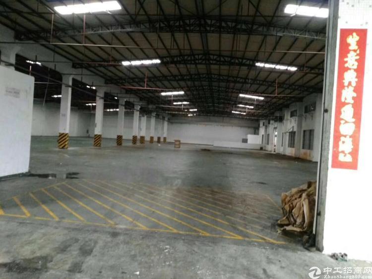 高埗镇环城路口空出单一层钢结构厂房