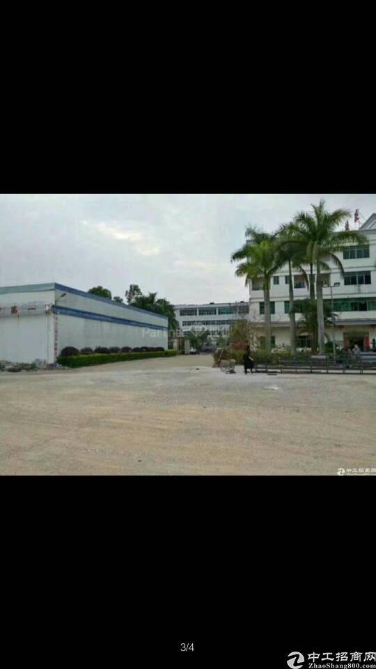博罗县龙华镇新空出园区厂房出租  滴水12米带牛角位