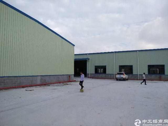 独院钢构厂房出租面积实在,滴水10米,空地超大,交通便利
