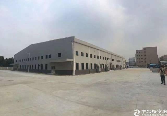 大岭山上一秒新出全新单一层砖墙钢构到顶12米高厂房6500平