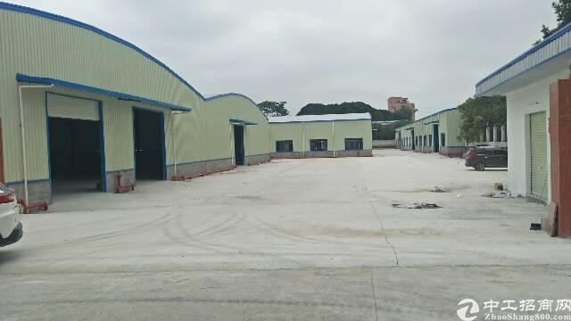 龙岗坪地4200平独栋钢构厂房出租高8米空地超大