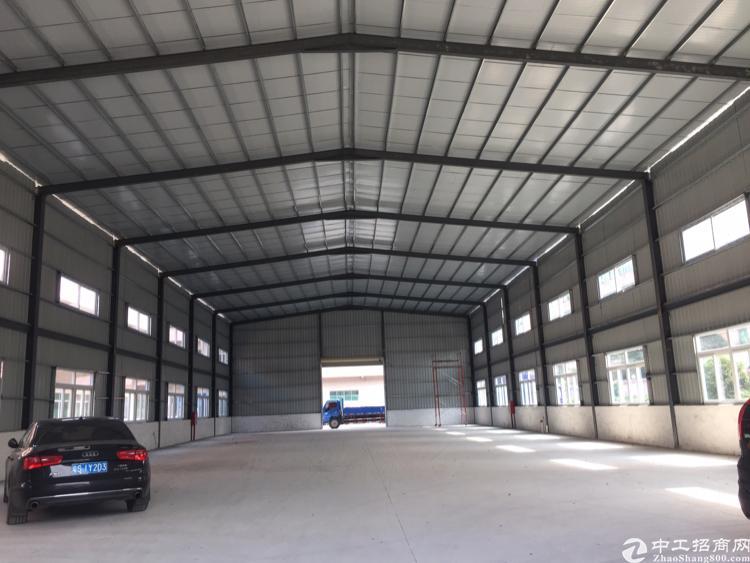 中堂全新单一层钢结构厂房4600平方,可分租