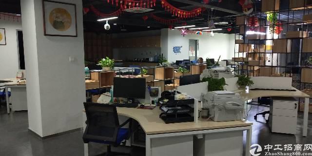 横岗新出楼上2000平厂房带精装修办公室价格23块