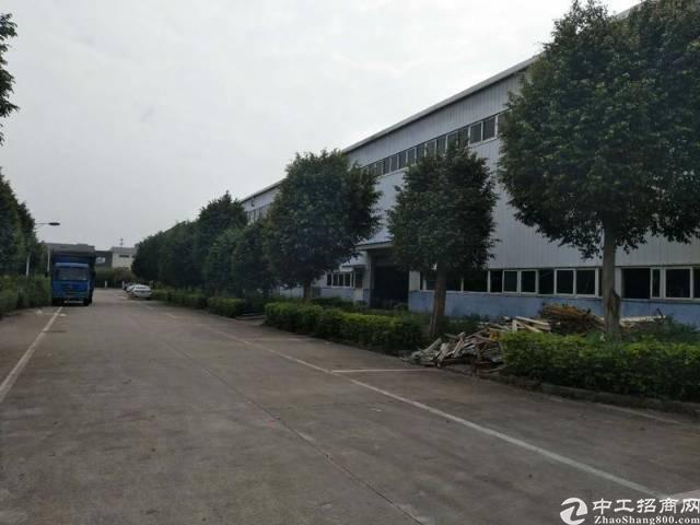 大朗镇10000平米独院单一层钢结构厂房出租,带牛角