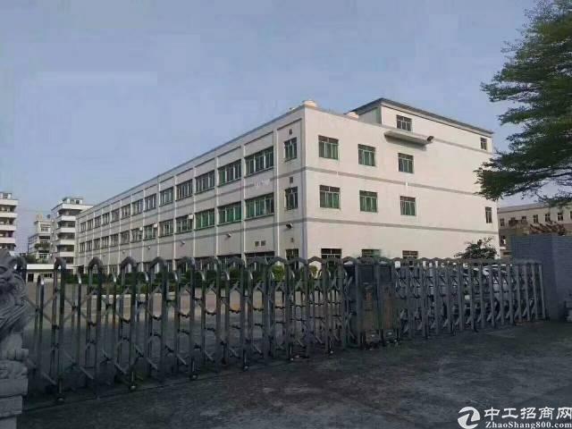 石碣新出大型工业区标准厂房三楼出租