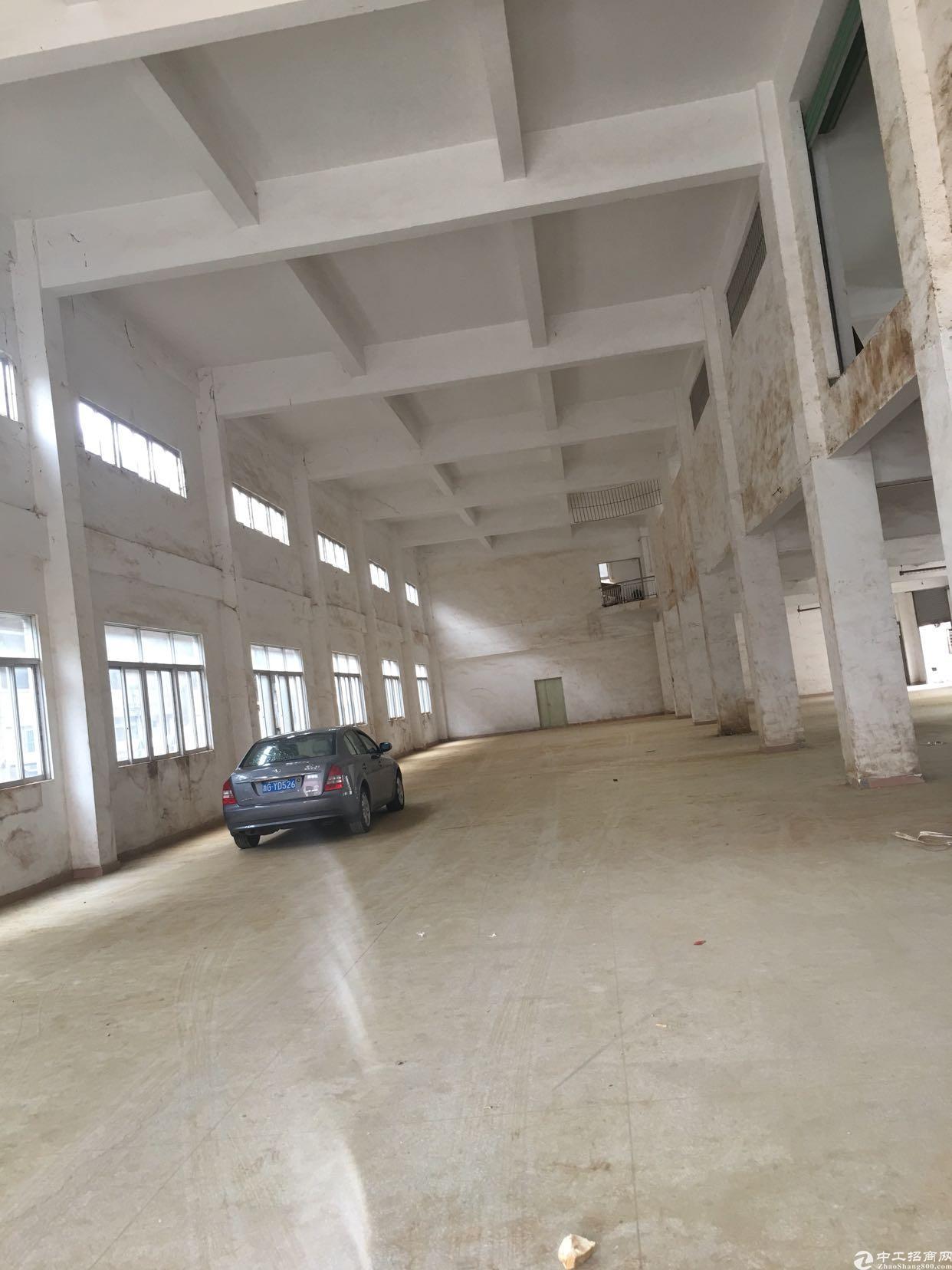 凤岗雁田大路边标准厂房九米高和六米高,空的超大,距离深圳超近