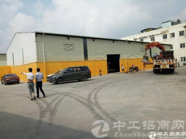 寮步镇新出原房东单一层钢构铁皮房2000平方,可做仓库