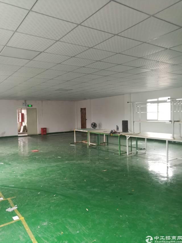 横岗安良楼上带精装修400平米厂房招租